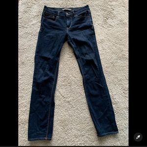 Express Dark Skinny Jeans Mid Rise Size 4R